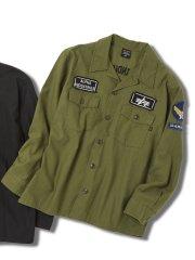 【大きいサイズ】アルファ・インダストリーズ/Alpha Industries 綿100% レギュラーカラー長袖シャツ