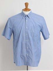 【大きいサイズ】グランバック/GRAND-BACK ダンガリーネップ ボタンダウン半袖シャツ