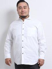 【大きいサイズ】グランバック/GRAND-BACK パナマジャガード カッタウェイ長袖シャツ