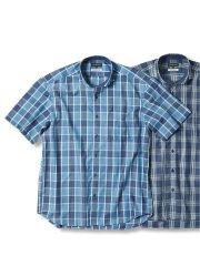 【大きいサイズ】グランバック/GRAND-BACK ドライポプリン カッタウェイ半袖シャツ