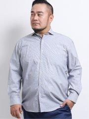 【大きいサイズ】グランバック/GRAND-BACK ドビー カッタウェイ長袖シャツ