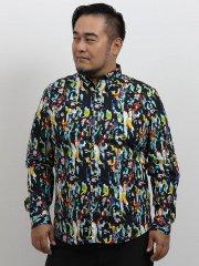 【大きいサイズ】デシグアル/Desigual 総柄プリント長袖シャツ