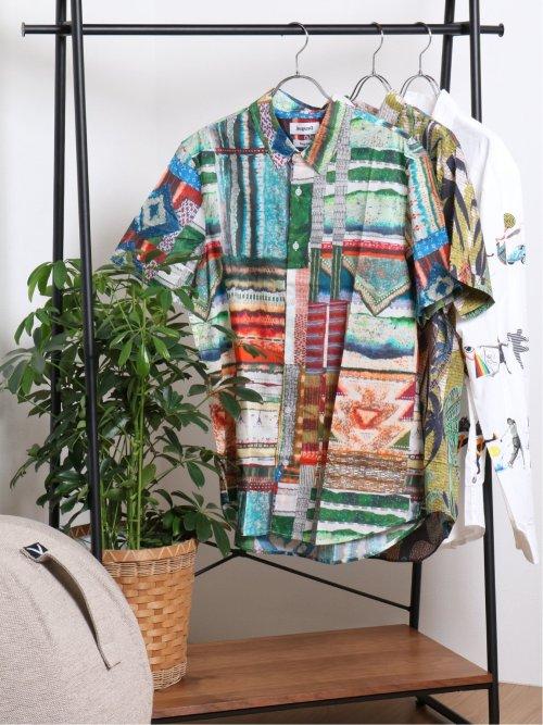 【大きいサイズ】デシグアル/Desigual エキゾチックプリント半袖シャツ