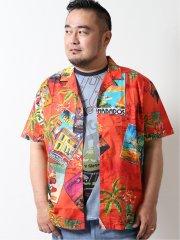 【大きいサイズ】デシグアル/Desigual ハバナシティプリント半袖シャツ