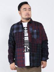 【大きいサイズ】デシグアル/Desigual クレイジーチェック 長袖シャツ