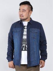 【大きいサイズ】デシグアル/Desigual パターンデニム 長袖シャツ