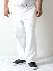 【大きいサイズ】カステルバジャック/CASTELBAJAC ストレッチ 刺繍入りパンツ