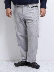 【大きいサイズ】レノマオム/renoma HOMME ストレッチグレンチェック 5ポケットパンツ