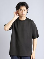 ダブルフェイスボーダー クルーネック半袖Tシャツ