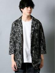 ボタニカルジャガード 5分袖ジャケット