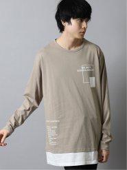 裾レイヤード クルーネック長袖BIGTシャツ