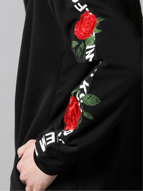 薔薇刺繍セットアップ フルジップアウター