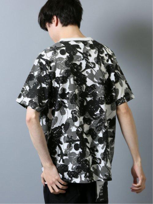 Disney コレクション by SD 総柄Mickey クルー半袖Tシャツ
