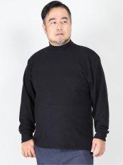 【大きいサイズ】グランバック/GRAND-BACK 吸湿発熱 無地ハイネック長袖Tシャツ