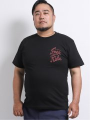 【大きいサイズ】グランバック/GRAND-BACK 綿天竺サーフボード クルーネック半袖Tシャツ