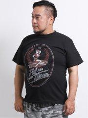 【大きいサイズ】グランバック/GRAND-BACK 綿BOMBガール クルーネック半袖Tシャツ