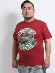 【大きいサイズ】グランバック/GRAND-BACK BOMBミリタリー クルーネック半袖Tシャツ