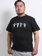 【大きいサイズ】グランバック/GRAND-BACK The Beatles HELPクルーネック半袖Tシャツ