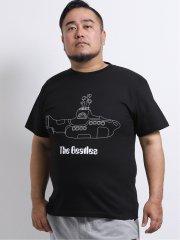 【大きいサイズ】グランバック/GRAND-BACK The Beatles サブマリンクルーネック半袖Tシャツ