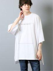 ローズプリント クルーネック半袖BIGTシャツ