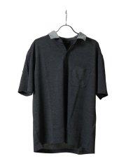 【大きいサイズ】グランバック/GRAND-BACK 鹿の子 スキッパー半袖ポロシャツ