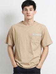 ダブルフェイス裏メッシュ クルーネック半袖Tシャツ