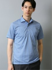 Biz ドライネクスト/DRYNEXT ストライプ柄 半袖ポロシャツ