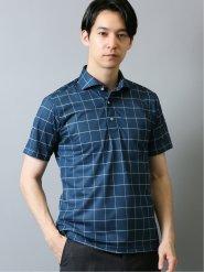 Biz ドライネクスト/DRYNEXT チェック柄 半袖ポロシャツ