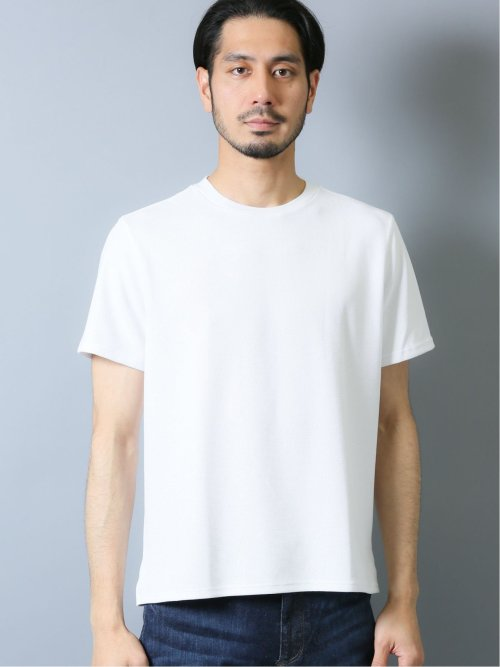 【DRESS T-SHIRT】シルケットワッフル クルーネック半袖Tシャツ