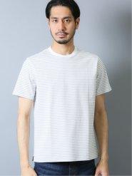 【DRESS T-SHIRT】シルケットボーダー クルーネック半袖Tシャツ