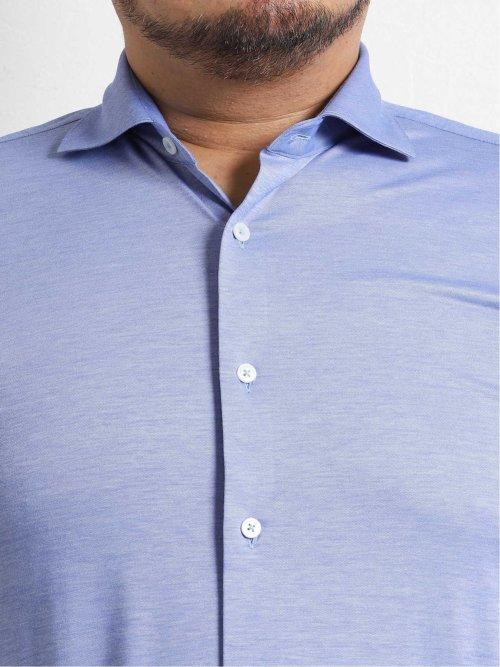 【大きいサイズ】ジーステージ/G-stage ストレッチジャージ セミワイドカラー長袖シャツ