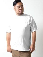 【大きいサイズ】グランバック/GRAND-BACK ポケット付き 無地クルーネック半袖Tシャツ