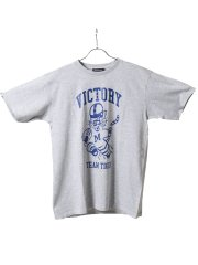 【大きいサイズ】グランバック/GRAND-BACK カレッジプリント クルーネック半袖Tシャツ