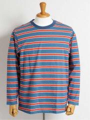 【大きいサイズ】グランバック/GRAND-BACK ボーダー柄クルーネック長袖Tシャツ