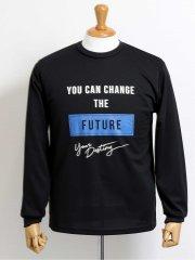 【大きいサイズ】グランバック/GRAND-BACK プリント クルーネック長袖Tシャツ
