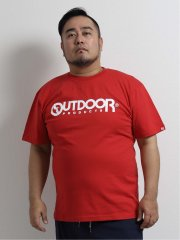 【大きいサイズ】アウトドアプロダクツ/OUTDOOR PRODUCTS 天竺ロゴプリント クルーネック半袖Tシャツ