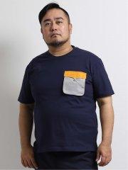 【大きいサイズ】ジェリー/GERRY 立体カラーポケット クルーネック半袖Tシャツ