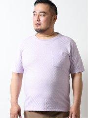 【大きいサイズ】グランバック/GRAND-BACK リンクスクルーネック半袖Tシャツ