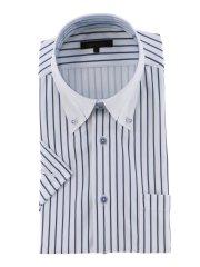 Biz クールパス/COOLPASS ボタンダウン半袖ニットシャツ