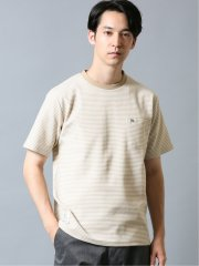 【WEB限定】アーノルドパーマー/Arnold Palmer サーフニットボーダー クルー半袖Tシャツ