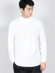 【WEB限定】快適 ワッフル モックネック長袖Tシャツ