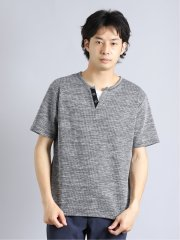 杢テレコ クルーネック半袖Tシャツ