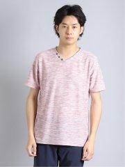 リップル Vネック半袖Tシャツ