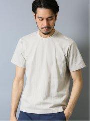 ソロテックス/SOLOTEX ケーブルジャガード クルーネック半袖Tシャツ