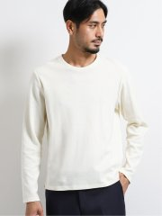 【DRESS T-SHIRT】ソロテックス/SOLOTEX ミニリップル クルーネック長袖Tシャツ