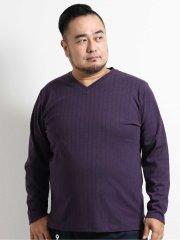 【大きいサイズ】グランバック/GRAND-BACK ソロテックス/SOLOTEX 針抜Vネック長袖Tシャツ