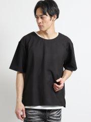 布帛Tシャツ+タンクトップアンサンブル