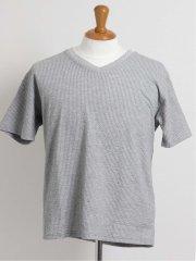 【大きいサイズ】グランバック/GRAND-BACK サッカーVネック半袖Tシャツ