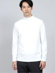 吸湿発熱スムース モックネック長袖Tシャツ