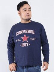 【大きいサイズ】コンバース/CONVERSE プリント クルーネック長袖Tシャツ